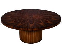 Carrocel Interiors Custom Sunburst Modern Round Dining Table - 1739309