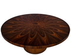 Carrocel Interiors Custom Sunburst Modern Round Dining Table - 1739310