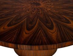 Carrocel Interiors Custom Sunburst Modern Round Dining Table - 1739312