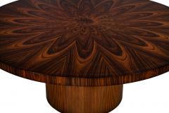 Carrocel Interiors Custom Sunburst Modern Round Dining Table - 1739314