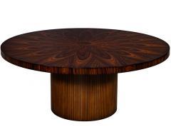 Carrocel Interiors Custom Sunburst Modern Round Dining Table - 1739315