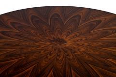Carrocel Interiors Custom Sunburst Modern Round Dining Table - 1739316