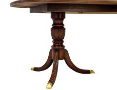 Carrocel Interiors New Flamed Mahogany Duncan Phyfe High Gloss Dining Table and Chairs Set - 1570973