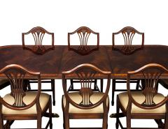 Carrocel Interiors New Flamed Mahogany Duncan Phyfe High Gloss Dining Table and Chairs Set - 1570975