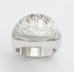 Cartier 18K White Gold Rock Crystal and Diamond Ring by Cartier Paris - 814181