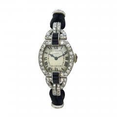 Cartier 1920s Cartier Paris Art Deco Diamond Onyx Wristwatch - 358690