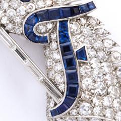 Cartier 1920s Diamond and Sapphire Horse Head Brooch by Cartier - 1047319
