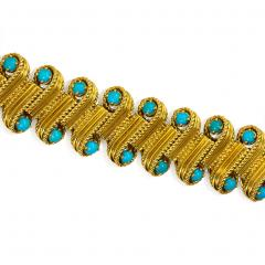 Cartier 1950s Cartier Gold and Turquoise Bracelet - 665681