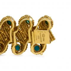 Cartier 1950s Cartier Gold and Turquoise Bracelet - 665683
