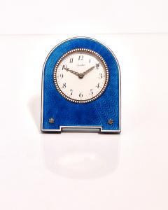 Cartier Belle Epoque guilloch enamel desk clock Cartier 1913 - 1907077
