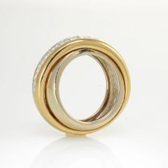 Cartier CARTIER 18K TWO TONE PRINCESS CUT DIAMOND CROSS OVER WEDDING BAND - 1704863