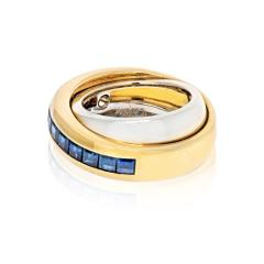 Cartier CARTIER 18K TWO TONE SAPPHIRE DOUBLE BAND RING - 2029513
