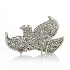 Cartier CARTIER 18K WHITE GOLD DIAMOND PAVE DOVE PIN BROOCH - 1704874