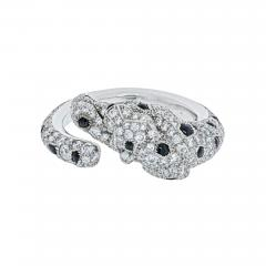 Cartier CARTIER 18K WHITE GOLD PANTHERE DIAMOND AND ONYX RING - 1965653