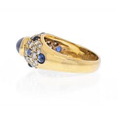 Cartier CARTIER 18K YELLOW GOLD CABOCHON SAPPHIRE DIAMOND RING - 2029517