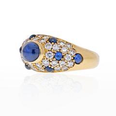 Cartier CARTIER 18K YELLOW GOLD CABOCHON SAPPHIRE DIAMOND RING - 2029518