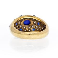 Cartier CARTIER 18K YELLOW GOLD CABOCHON SAPPHIRE DIAMOND RING - 2029519