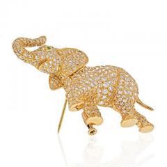 Cartier CARTIER 18K YELLOW GOLD DIAMOND ELEPHANT BROOCH - 1963011