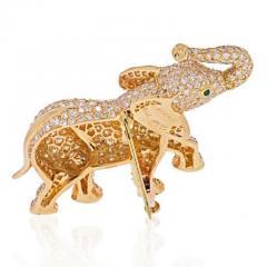 Cartier CARTIER 18K YELLOW GOLD DIAMOND ELEPHANT BROOCH - 1963013
