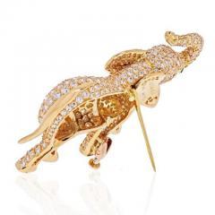 Cartier CARTIER 18K YELLOW GOLD DIAMOND ELEPHANT BROOCH - 1963014
