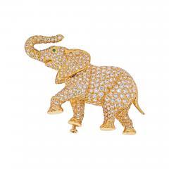 Cartier CARTIER 18K YELLOW GOLD DIAMOND ELEPHANT BROOCH - 1965655