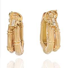 Cartier CARTIER 18K YELLOW GOLD DOUBLE BAMBOO EARRINGS - 2029502