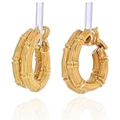 Cartier CARTIER 18K YELLOW GOLD DOUBLE BAMBOO EARRINGS - 2029503