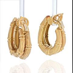 Cartier CARTIER 18K YELLOW GOLD DOUBLE BAMBOO EARRINGS - 2029504