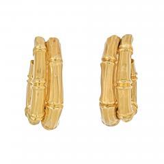 Cartier CARTIER 18K YELLOW GOLD DOUBLE BAMBOO EARRINGS - 2030171