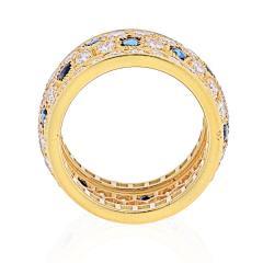 Cartier CARTIER 18K YELLOW GOLD NIGERIA DIAMOND SAPPHIRE RING - 1941038