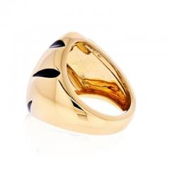 Cartier CARTIER 18K YELLOW GOLD PANTHERE CLAW BLACK LACQUER RING - 1962999