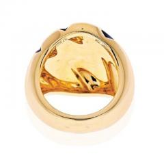 Cartier CARTIER 18K YELLOW GOLD PANTHERE CLAW BLACK LACQUER RING - 1963000
