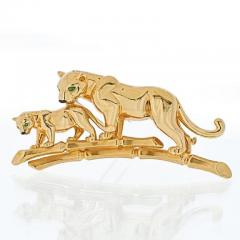 Cartier CARTIER 18K YELLOW GOLD PANTHERE MOTHER AND HER CUB BROOCH - 1963016
