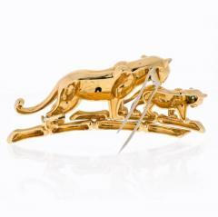 Cartier CARTIER 18K YELLOW GOLD PANTHERE MOTHER AND HER CUB BROOCH - 1963018