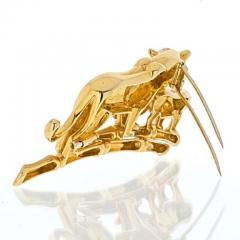 Cartier CARTIER 18K YELLOW GOLD PANTHERE MOTHER AND HER CUB BROOCH - 1963019