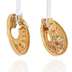Cartier CARTIER 18K YELLOW GOLD TANJORE RUBY EMERALD EARRINGS - 2029506