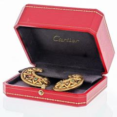 Cartier CARTIER 18K YELLOW GOLD TANJORE RUBY EMERALD EARRINGS - 2029507