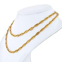 Cartier CARTIER 1970 18K YELLOW GOLD VINTAGE LOGO LONG CHAIN NECKLACE - 1796875