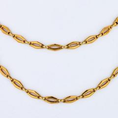 Cartier CARTIER 1970 18K YELLOW GOLD VINTAGE LOGO LONG CHAIN NECKLACE - 1796876