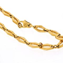 Cartier CARTIER 1970 18K YELLOW GOLD VINTAGE LOGO LONG CHAIN NECKLACE - 1796878