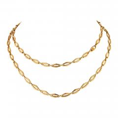 Cartier CARTIER 1970 18K YELLOW GOLD VINTAGE LOGO LONG CHAIN NECKLACE - 1798590