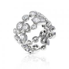 Cartier CARTIER 5 CARAT DIAMOND LEAF RING 18K WHITE GOLD - 2086698