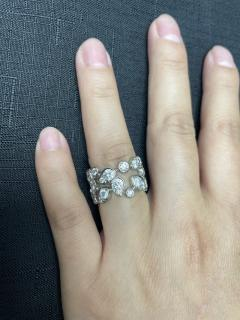 Cartier CARTIER 5 CARAT DIAMOND LEAF RING 18K WHITE GOLD - 2086701