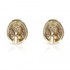 Cartier CARTIER 8MM PEARL AND DIAMOND OVAL SHAPE EARRINGS 18 KARAT YELLOW GOLD - 1954968