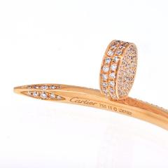 Cartier CARTIER JUSTE UN CLOU 18K ROSE GOLD ALL DIAMOND PAVE SIZE 15 BRACELET - 1869928