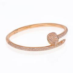 Cartier CARTIER JUSTE UN CLOU 18K ROSE GOLD ALL DIAMOND PAVE SIZE 15 BRACELET - 1869929