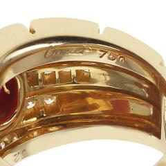 Cartier CARTIER MAILLON PANTHERE DESIGN OVAL RUBY AND DIAMONDS RING 18 KARAT YELLOW - 1964956