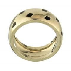 Cartier CARTIER PANTHERE 18K WHITE GOLD SPOTTED LACQUER RING - 1932077