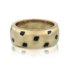 Cartier CARTIER PANTHERE 18K WHITE GOLD SPOTTED LACQUER RING - 1932078
