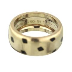 Cartier CARTIER PANTHERE 18K WHITE GOLD SPOTTED LACQUER RING - 1932079